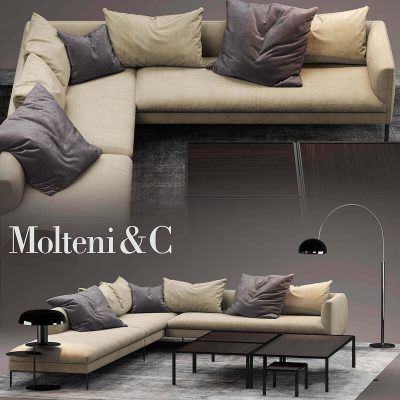 Molteni PAUL SOFA 3D Model 1