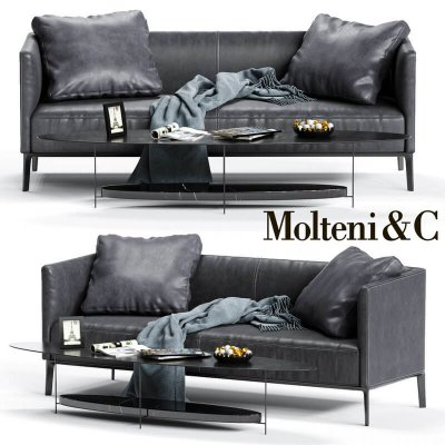 Molteni&C CAMDEN Low Backrest Sofa 3D (3)