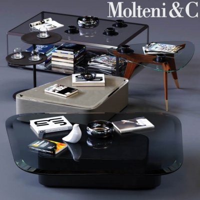 MolteniC Coffee Tables Set 01 3D Model (2)