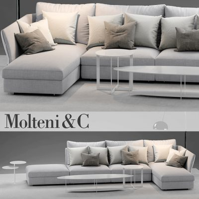 Molteni&C Holiday Sofa 3D Model