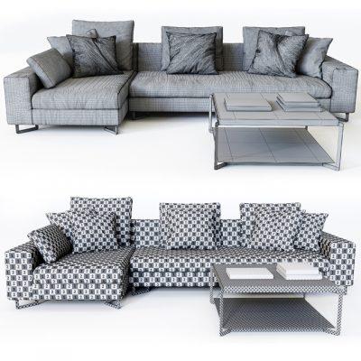 Molteni&C Portfolio Large Sofa 3D Model
