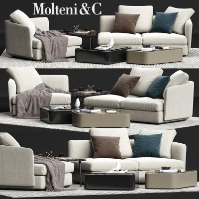 Molteni&C SLOANE Sofa 02 3D Model 1