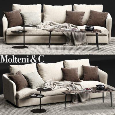 Molteni&C Sloan Sofa Set-04 3D Model