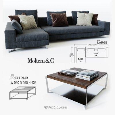 Molteni & C Sofa 3D Model