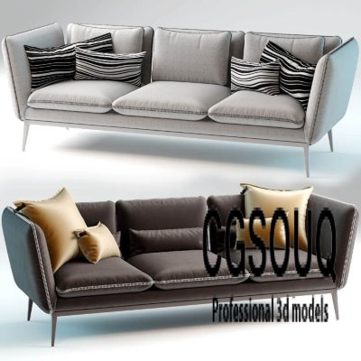 Monaco Sofa by Arik Ben Simhon 3D Model