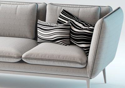 Monaco Sofa by Arik Ben Simhon 3D Model 2