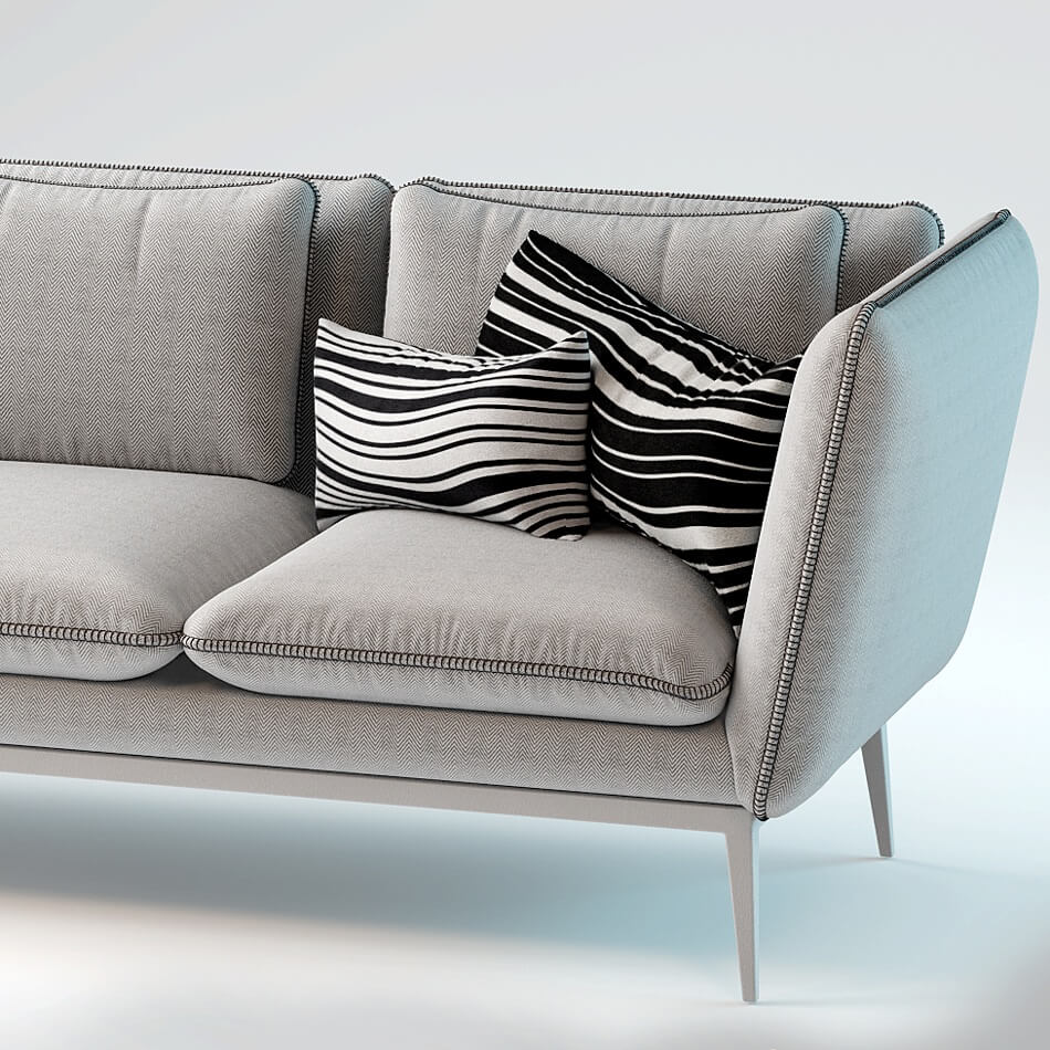 Monaco Sofa By Arik Ben Simhon 3D Model 1