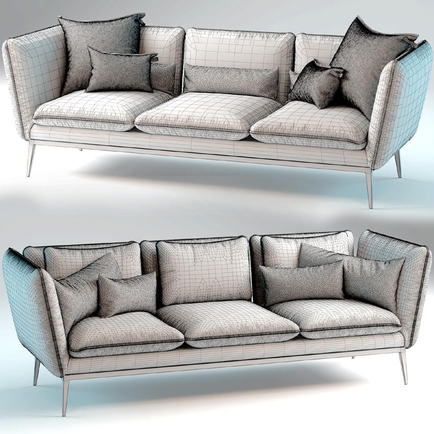 Monaco Sofa by Arik Ben Simhon 3D Model 3
