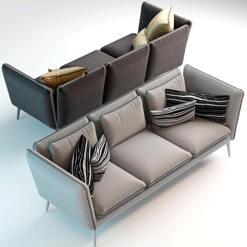Monaco Sofa by Arik Ben Simhon 3D Model 4
