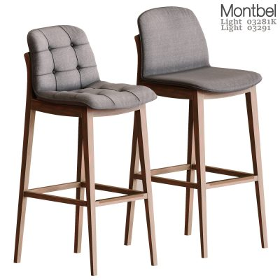 Montbel Barstools Chair 3D Model