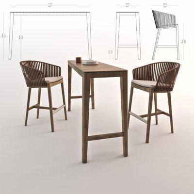 Mood Bar Chair 3D Model
