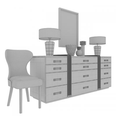 Moore Chest & Console Set 3D Model
