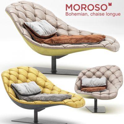 Moroso Bohemian Lounge Chair 3D Model