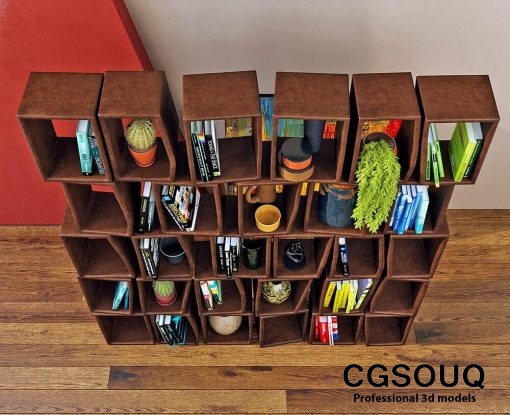 Moroso -Terreria bookcase 3D model (3)