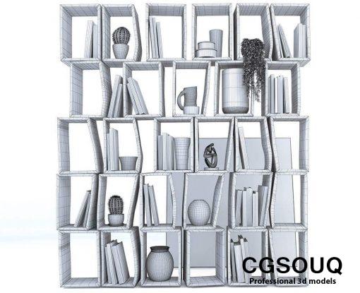 Moroso -Terreria bookcase 3D model (4)
