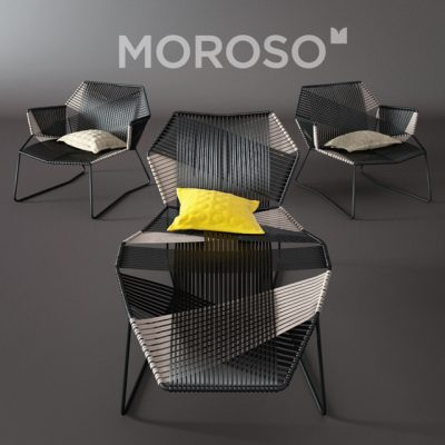 Moroso Tropicalia Chaise 3D Model