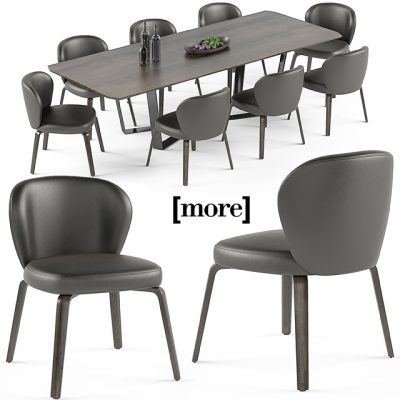 Mudi and Pero Table & Chair 3D Model