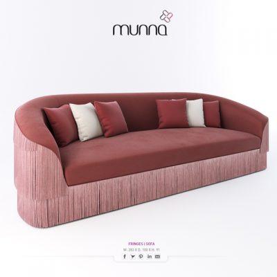 Munna Fringes Sofa 3D Model