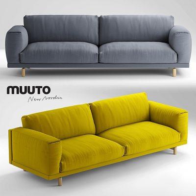 Muuto Rest 3-Seater Sofa 3D Model