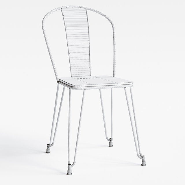 Napier Dining Chair 3D Model 5