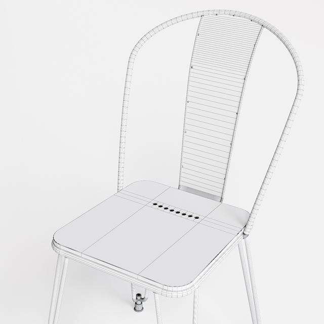 Napier Dining Chair 3D Model 6
