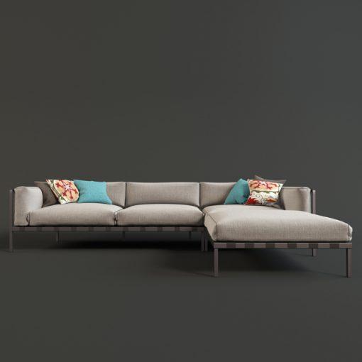 Natal Alu Sofa 3D Model 2