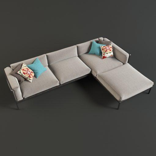 Natal Alu Sofa 3D Model 3