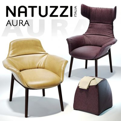 Natuzzi Aura Armchair 3D Model