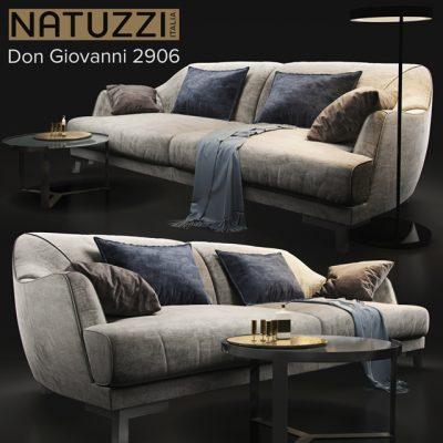 Natuzzi Don Giovanni 2906 Sofa 3D Model