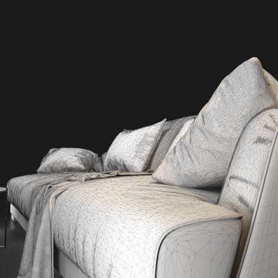 Natuzzi Don Giovanni 2906 Sofa 3D Model 8