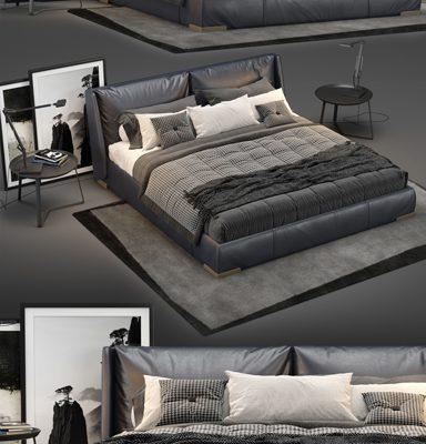 Natuzzi Fenice Bed 3D Model