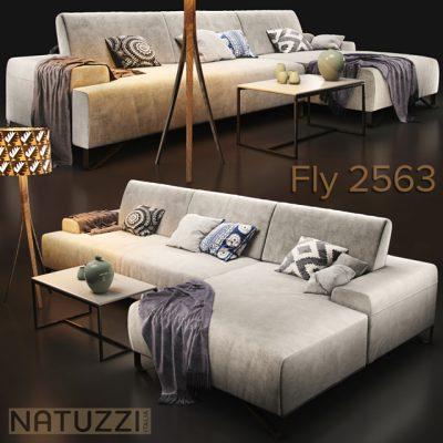 Natuzzi Fly 2563 Sofa 3D Model