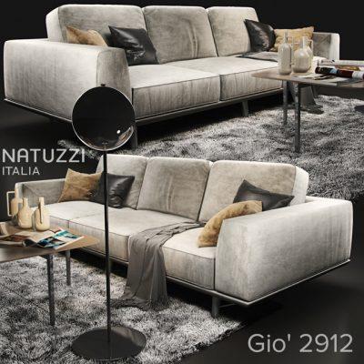 Natuzzi Gio 2912 Sofa 3D Model