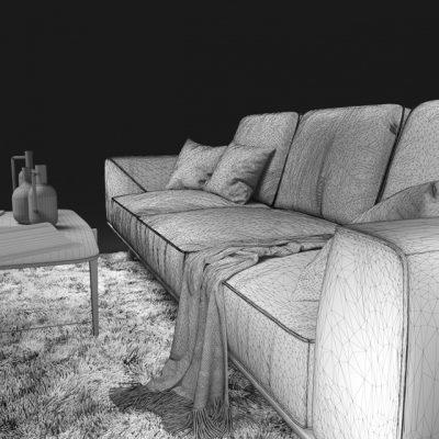 Natuzzi Gio 2912 Sofa 3D Model 8