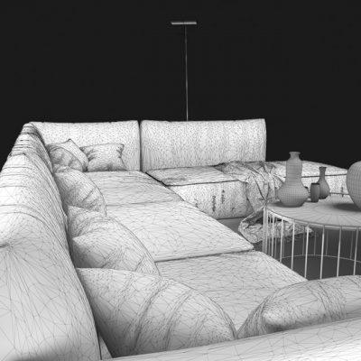 Natuzzi Herman 2981 Sofa 3D Model