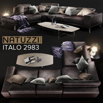 Natuzzi Italo 2983 Sofa 3D Model
