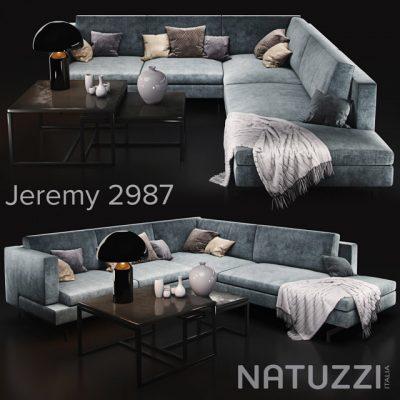 Natuzzi Jeremy 2987 Sofa 3D Model