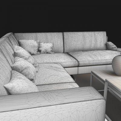 Natuzzi Jeremy 2987 Sofa 3D Model 8
