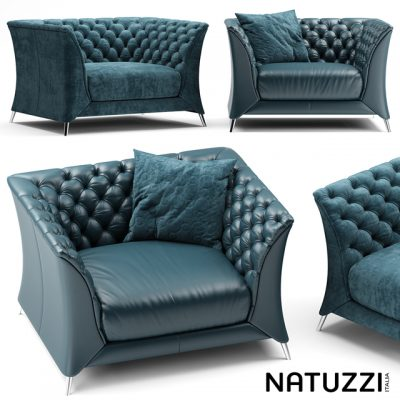 Natuzzi La Scala Armchair 3D Model