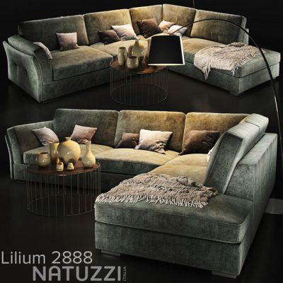 Natuzzi Lilium 2888 Sofa Set 3D Model