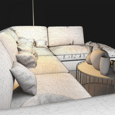 Natuzzi Lilium 2888 Sofa Set 3D Model 9