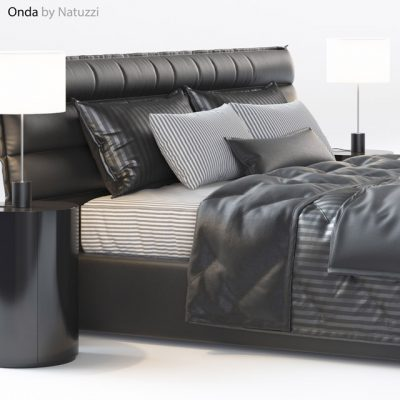 Natuzzi Onda Bed 3D Model