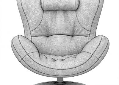 Natuzzi Sound Armchair 3D Model 4