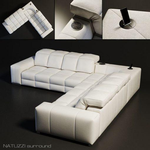 Natuzzi Surrond Sofa 3D Model