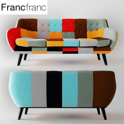 Navia Patchwork Sofa 3D Model