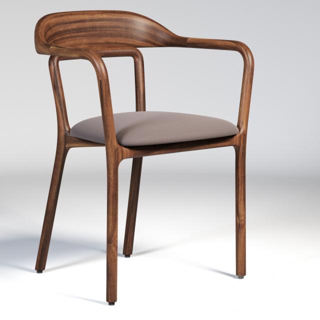 Neri & Hu-753S Duet Chair 3D Model