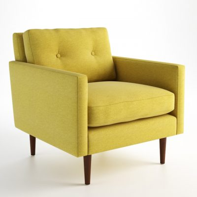 New York Armchair 3D Model