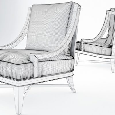 Nob Hill Lounge Armchair 3D Model