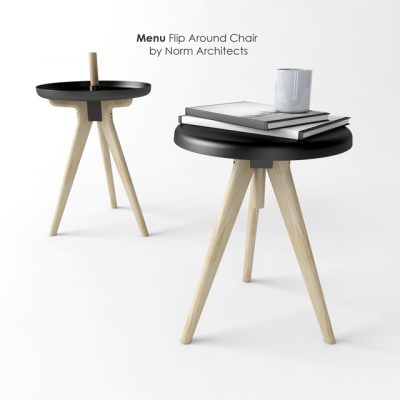 Norm Architects - Menu Flip Around Chair 3D Model