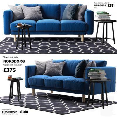 Norsborg 3-Seat Sofa 3D Model